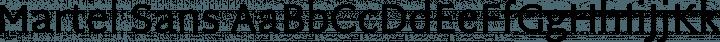 Martel Sans Regular free font