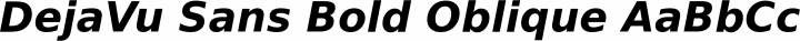 DejaVu Sans Bold Oblique free font