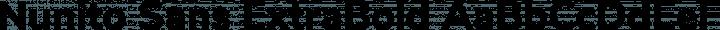 Nunito Sans ExtraBold free font