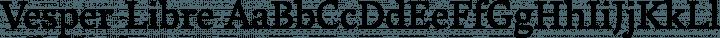Vesper Libre Regular free font