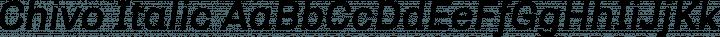 Chivo Italic free font