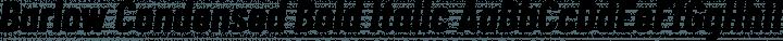Barlow Condensed Bold Italic free font