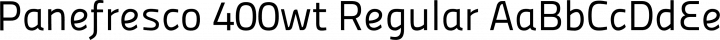 Panefresco 400wt Regular free font