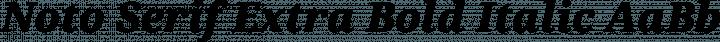 Noto Serif Extra Bold Italic free font