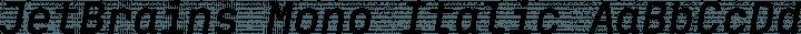 JetBrains Mono Italic free font