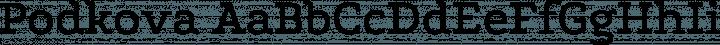 Podkova font family by Cyreal