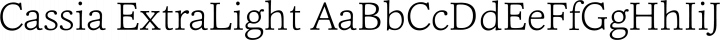 Cassia ExtraLight free font