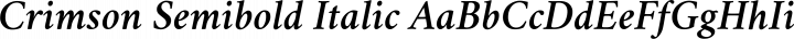 Crimson Semibold Italic free font