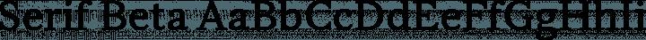 Serif Beta font family by Betatype