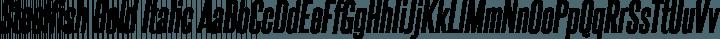 Steelfish Bold Italic free font