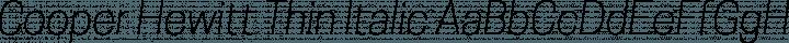Cooper Hewitt Thin Italic free font