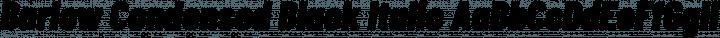 Barlow Condensed Black Italic free font