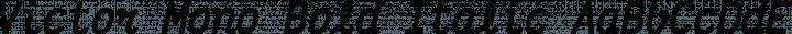 Victor Mono Bold Italic free font