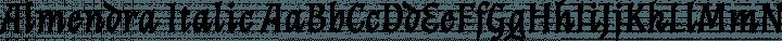 Almendra Italic free font