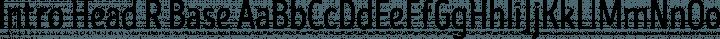 Intro Head R Base free font