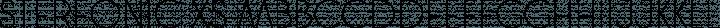 Stereonic XS free font