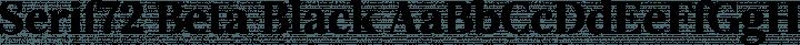 Serif72 Beta Black free font