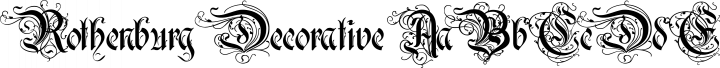 Rothenburg Decorative Regular free font