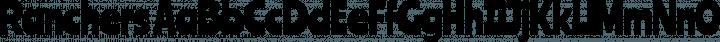 Ranchers Regular free font