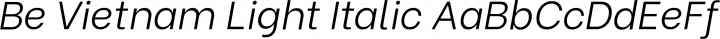 Be Vietnam Light Italic free font