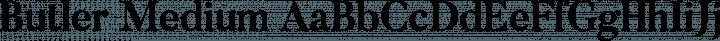 Butler Medium free font