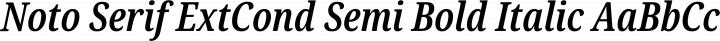 Noto Serif ExtCond Semi Bold Italic free font