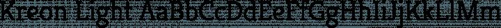 Kreon Light free font