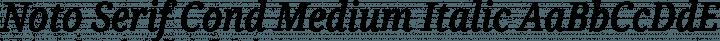 Noto Serif Cond Medium Italic free font