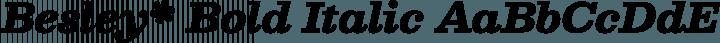 Besley* Bold Italic free font